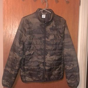 Pink Puffer Camouflage Print
